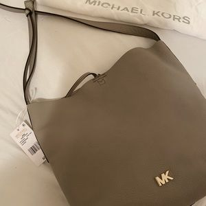 Brand new Pearl Grey Michael Kors leather purse